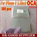 300 unids OCA optical adhesive clear 250um Para iphone6plus/6 splus + OCA adhesivo libre de DHL