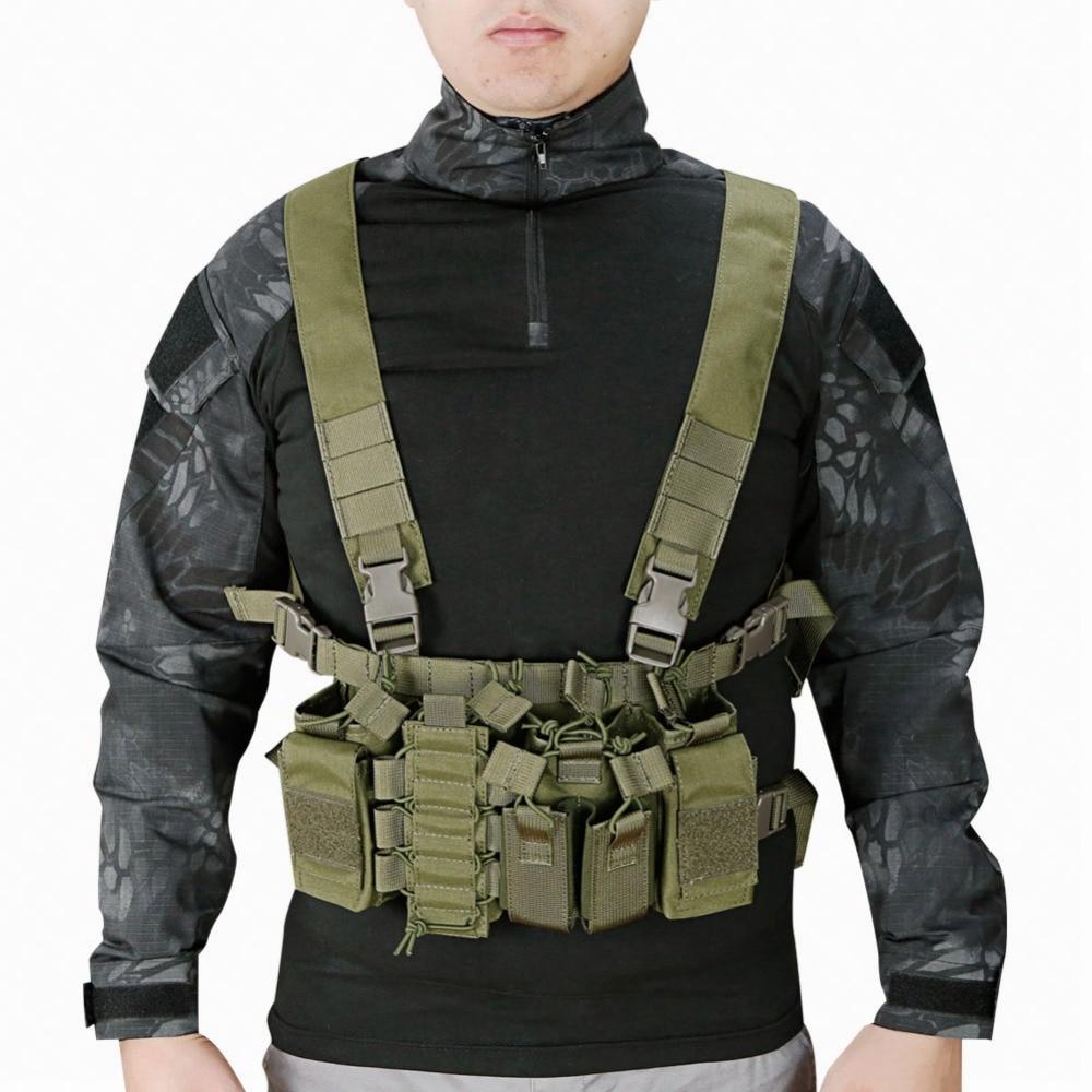 Gilet tactique facile poitrine plate-forme militaire transporteur gilet MultiCam Molle système fronde Airsoft Combat harnais