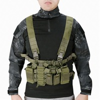 Tactical Vest Easy Chest Rig Military Carrier Vest MultiCam Molle System Sling Airsoft Combat Harness