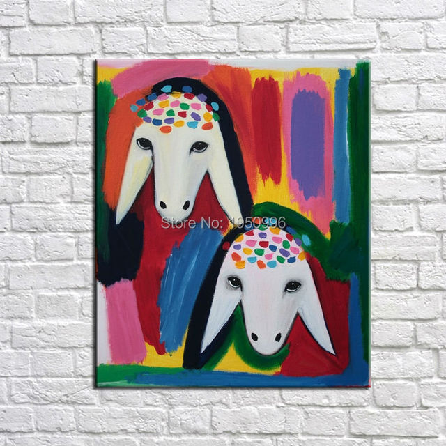 Animal Two Goats Most Famous Living Room Abstract Art Painting For