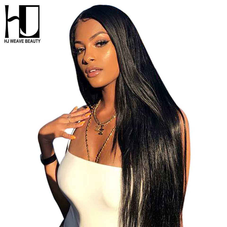13x6 Lace Frontal Human Hair Wigs European Remy Hair Straight Pre Plucked Natural Hairline With Baby