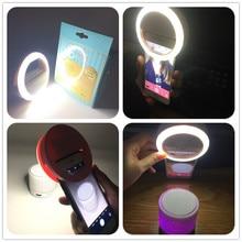 Кольцевой светильник для селфи с объективом для мобильного телефона, портативная вспышка, светодиодная вспышка для камеры, для телефона, для улучшения фотографии, для Xiaomi, IPhone, samsung