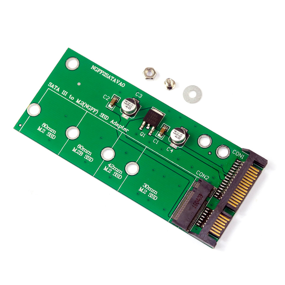 F06483 NGFF ( M2 ) SSD to 2.5 SATA Adapter M.2 NGFF SSD to SATA3 Convert Card