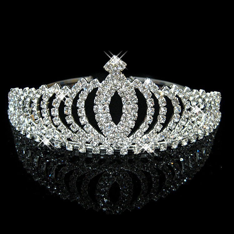 HTB1aCVcIFXXXXXSaXXXq6xXFXXX0 Romantic Peach Rhinestone Crystal Bridal Pageant Prom Cosplay Crown Tiara