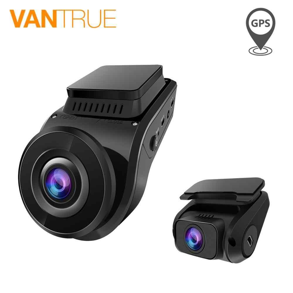Vantrue S1 Dash Cam супер конденсатор двойной объектив 1080P FHD Dash камера 2 ''lcd 2160P Встроенный gps Автомобильный видеорегистратор Камера LLL ночное видение