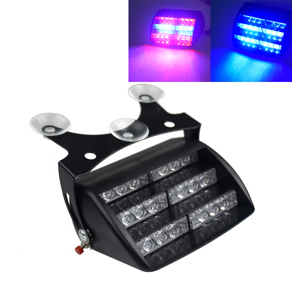 18 LED Red/Blue Car Police Strobe Flash Light Three layers Strobe light Dash Emergency Warning 3 Flashing Fog Lights 4 Style подвесная люстра donolux cigno bianco s110202 8white