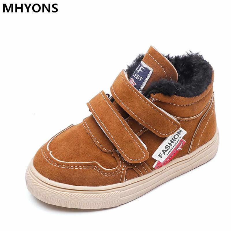 冬ゴム子供ブーツ新 2018 ファッション子供の靴は本革の少年スニーカー Sapato Infantil 子供ブーツ