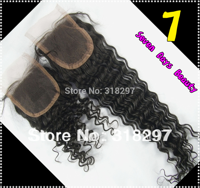 8A Closure Malaysian Virgin Hair Deep Wave4x4 Top Lace Closure Lace Front Closure Weft Hair Queen Products