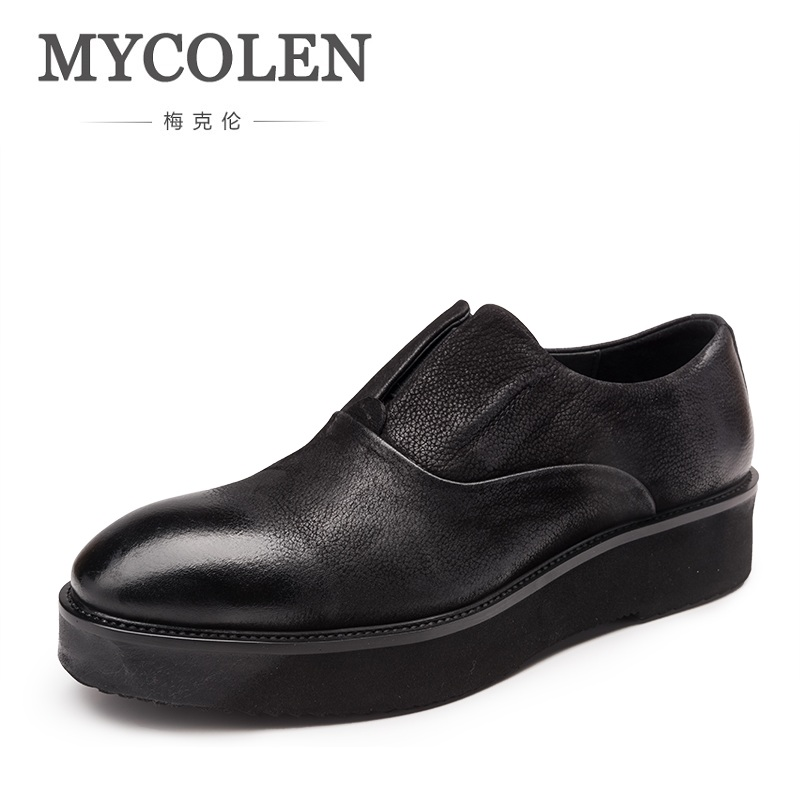 MYCOLEN New Luxury Brand Casual Men Genuine Leather Nubuck Loafers Shoes Handmade Moccasins Shoes Men Thickening Bottom cbjsho brand men shoes 2017 new genuine leather moccasins comfortable men loafers luxury men s flats men casual shoes