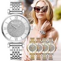 CONTENA zegarek kobiety diament moda damska zegarek Relogio Feminino damska sukienka zegarek zegar Reloj Mujer 2019 zegarek damski