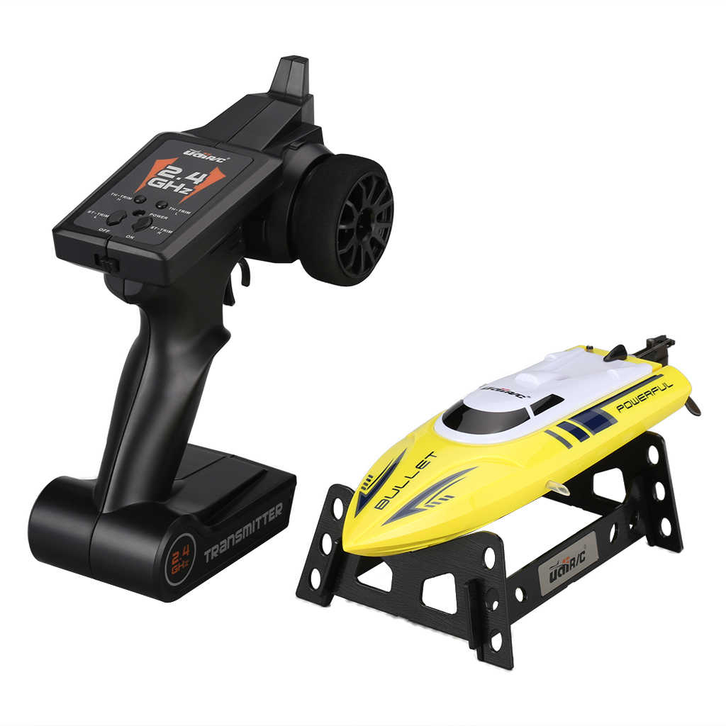 UDI003 2 4GHz High Speed 12 MPH Remote Control RC Boat BONUS BATTERY  INCLUDED (Yellow) for kids gifts with powerful motor Toys