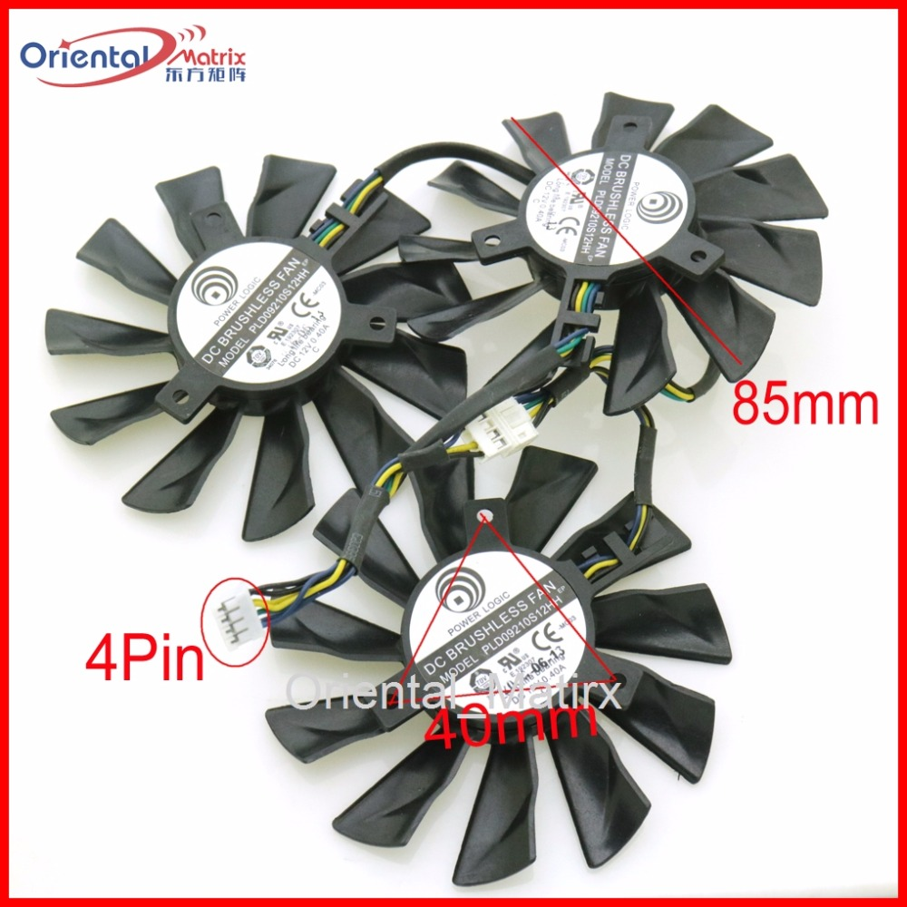 Free Shipping 3pcs/lot PLD09210S12HH DC12V 0.40A 85mm VGA Fan 4Pin For MSI GTX 1070 GTX1080 DUKE 8G Graphics Card Cooling Fan free shipping original delta cooling fan nfb10512hf 7f03 49 87y01g001 12v 0 39a 3 wires projector 5pcs lot