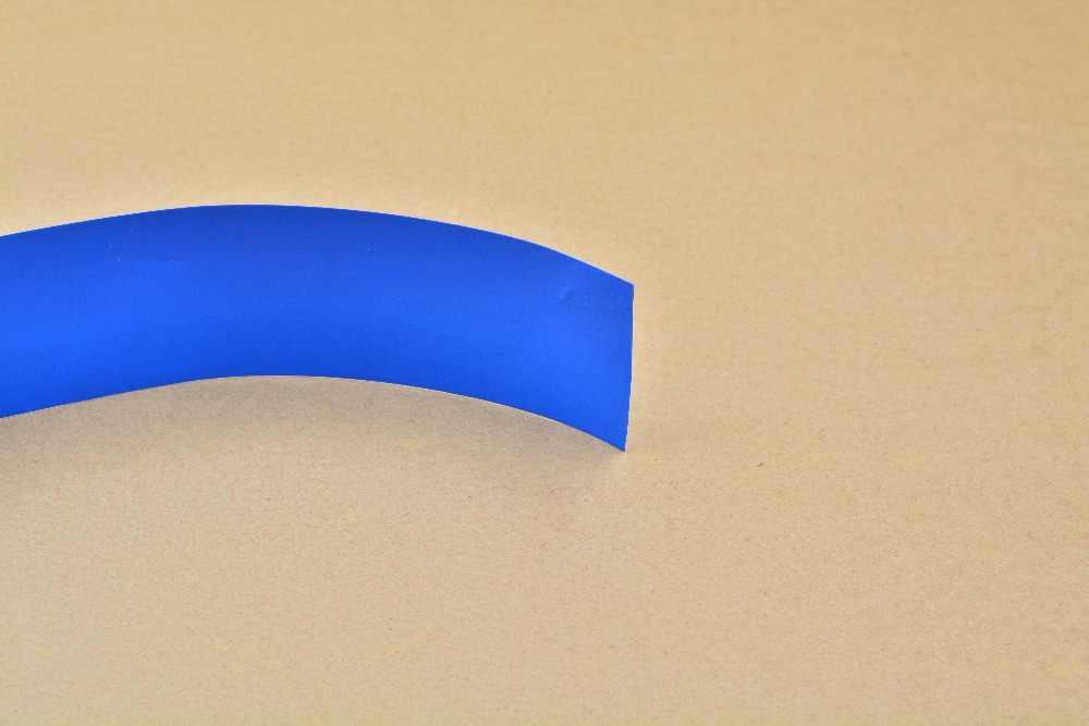 Achatamento largura 48mm de espessura 0.05 milímetros transparente preto azul branco muitas cores pvc calor tubo do psiquiatra da bateria do cartucho crosta 1 pcs