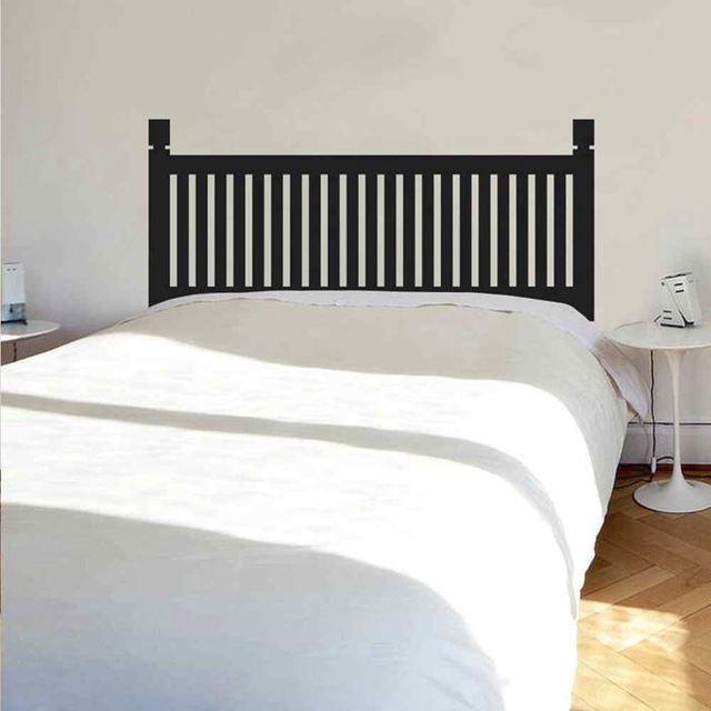 BATTOO Schlafzimmer Kopfteil Wandtattoo Holz Stil Bettpfosten Vinyl  Wandaufkleber Für Twin Voll Königin Kingsize