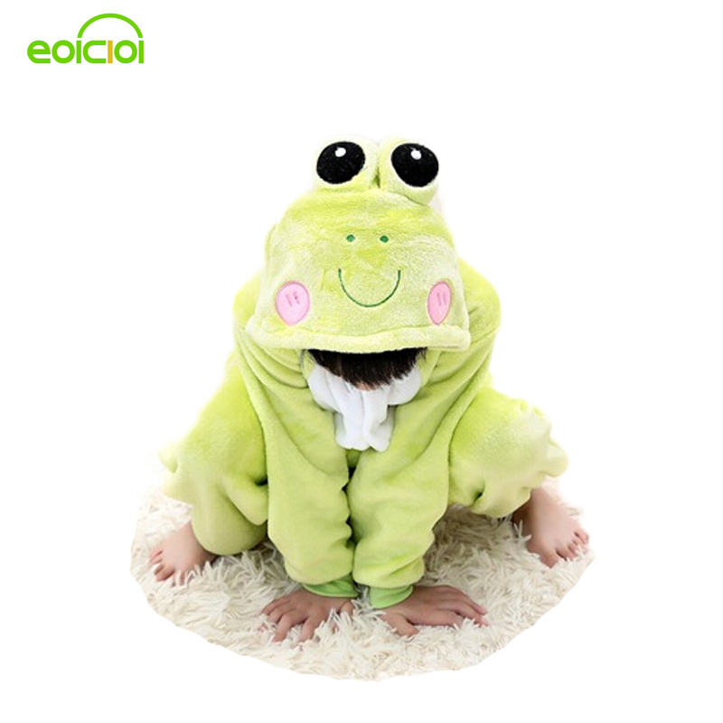 Boy girls pajamas warm Winter Flannel Hooded kids christmas animal Frog dog pyjamas cute pajamas for