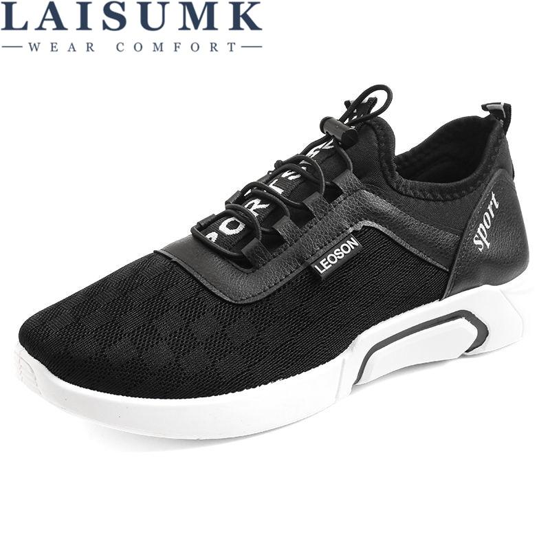 LAISUMK 2019 New Arrival Autumn Summer Men Shoes Casual Sneakers Footwear Wedge Male Walking