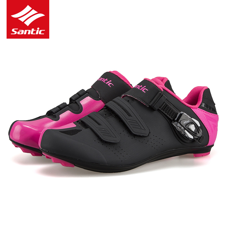 Santic PRO Road Cycling Shoes TPU Wearable Bike Self-Locking Shoes Men Women Racing Athletic Bicycle Shoes sapatilha ciclismo santic new design cycling shoes men outdoor road bike shoes self locking shoes non slip bicycle shoes sapatos with 3 colors