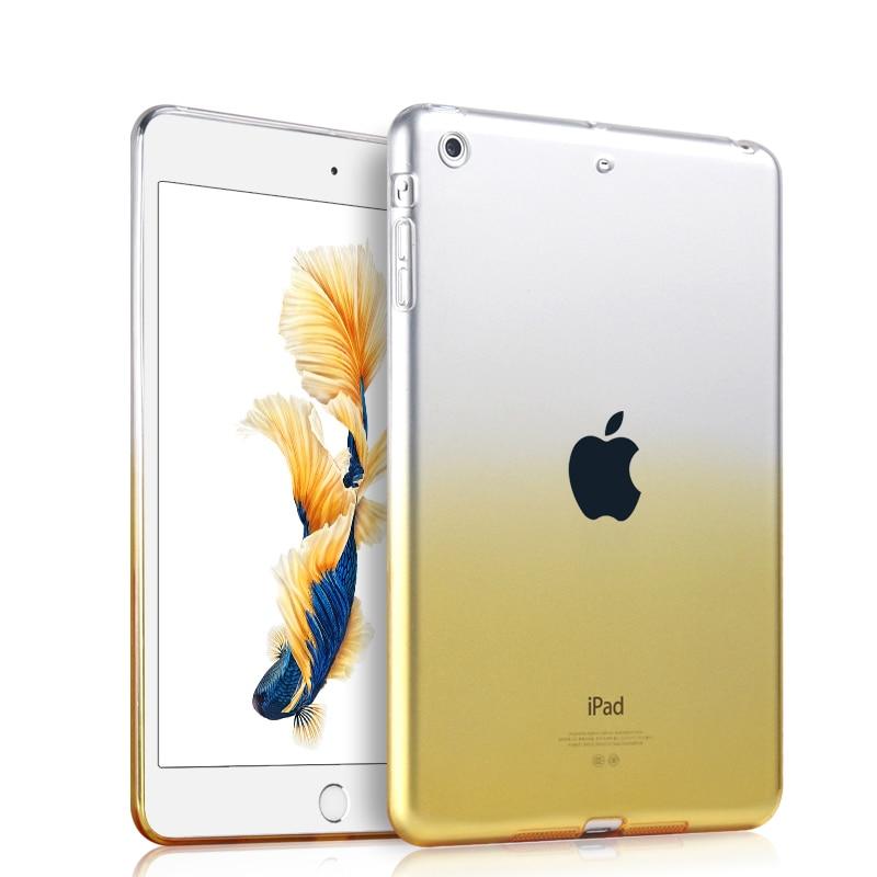 TPU Case For Funda iPad Air 1 Coque Ultra Slim Translucence Back Cover Protective Skin for Apple iPad Air 2 Capa Para+Stylus Pen