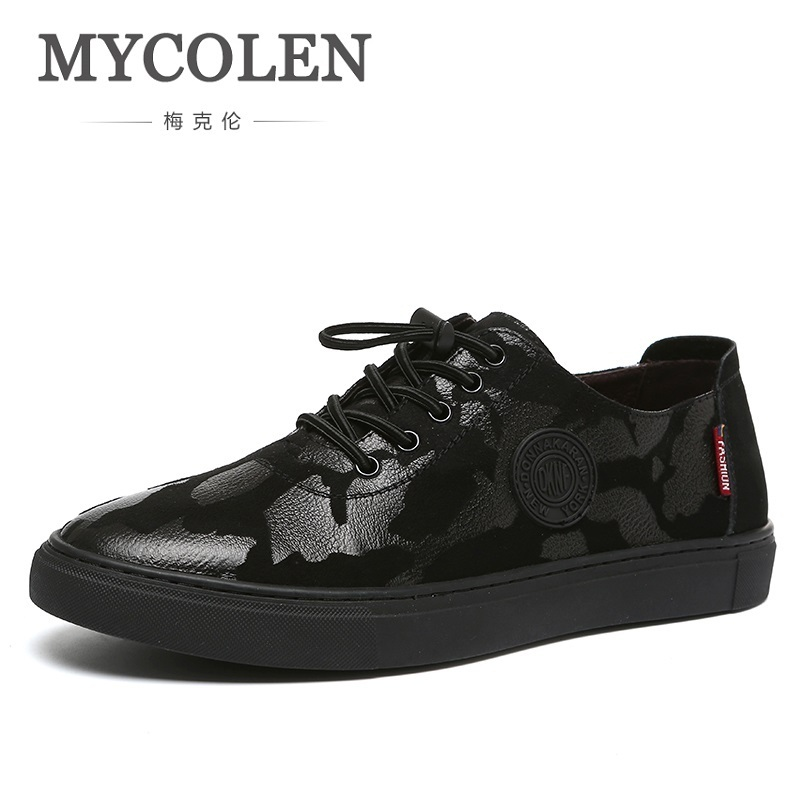 MYCOLEN 2018 New Spring Fashion Brand Leisure Shoes Men Classic Sneaker Camouflage Elastic Band Breathable Shoes Sepatu Pria mycolen 2018 brand new spring autumn men breathable loafers black shoes lightweight fashion casual men shoes sepatu pria