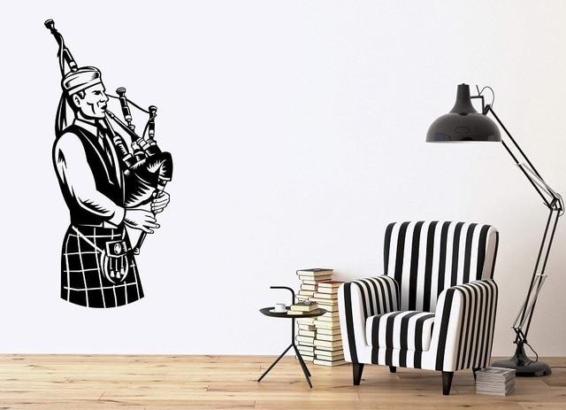 Affiche murale en vinyle, Applique murale, 2 y24, affiche de baguettes irlandaises, musique nationale écossaise, Design artistique pour chambre à coucher, décoration