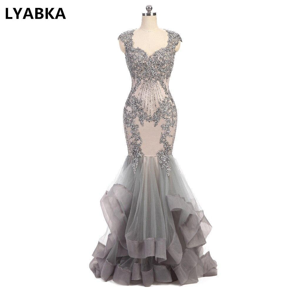 Kaftan Evening Dress Sexy Sweetheart Evening Dresses Sleeveless Robe De Soiree 2019 Vestido De Festa Grey