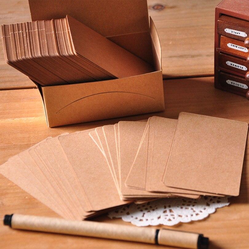 DIY Blank Card Set,200pcs Pure White&Kraft Message Card Labels ...