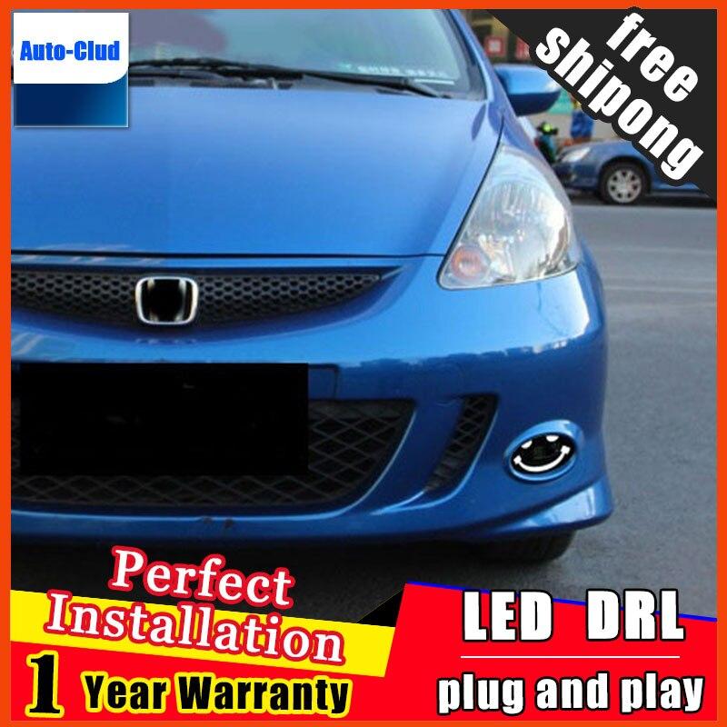 Автомобиль-стайлинг из светодиодов Противотуманные фары для Хонда БРИО удивлять 2010-2015 светодиодная противотуманная фара с линзой и LED дневные ходовые светодиодные функция ДХО 2