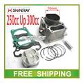 76 mm bloque de cilindros de pistón anillo de motos modificadas AX-1 SHINERAY x2 x2x bloque de cilindros del motor accesorios envío gratis