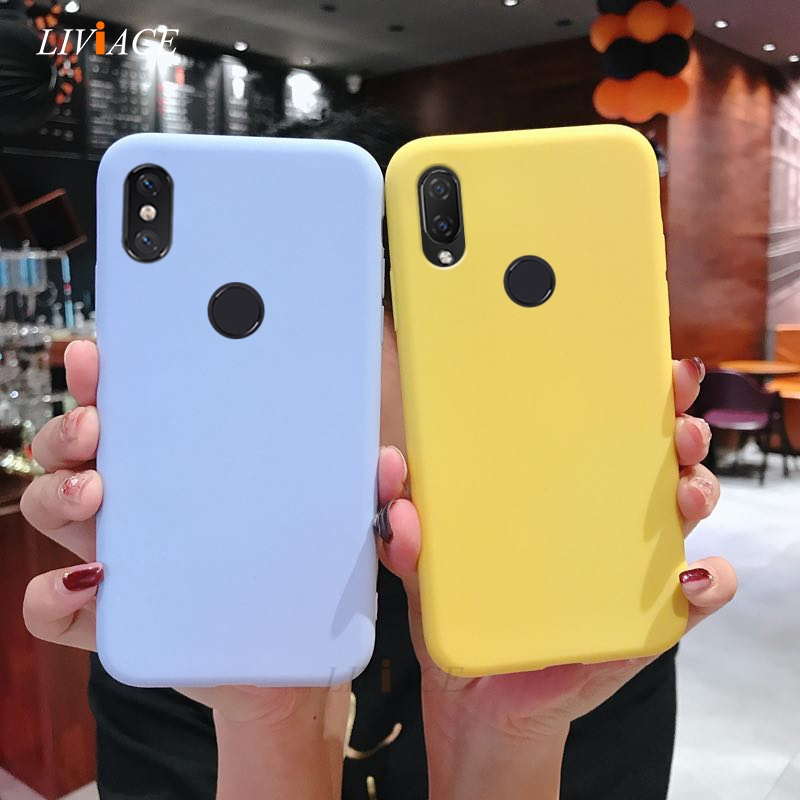 silicone <font><b>case</b></font> on for xiaomi mi play mix 3 mi 8 lite pro <font><b>mi8</b></font> explorer edition max 3 pro candy color soft back cover fundas image