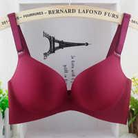 DeRuiLaDy Deep V Brand Women Large Cup Bras Sexy Underwear Adjustable Seamless Brassiere Cheap Lingerie Plus Size Push Up Bra