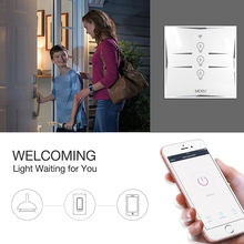 Wifi Smart Wall Touch Switch EU Power Mobile APP Remote Control Works with Amazon Alexa Google Home 3 Gang No Hub Required