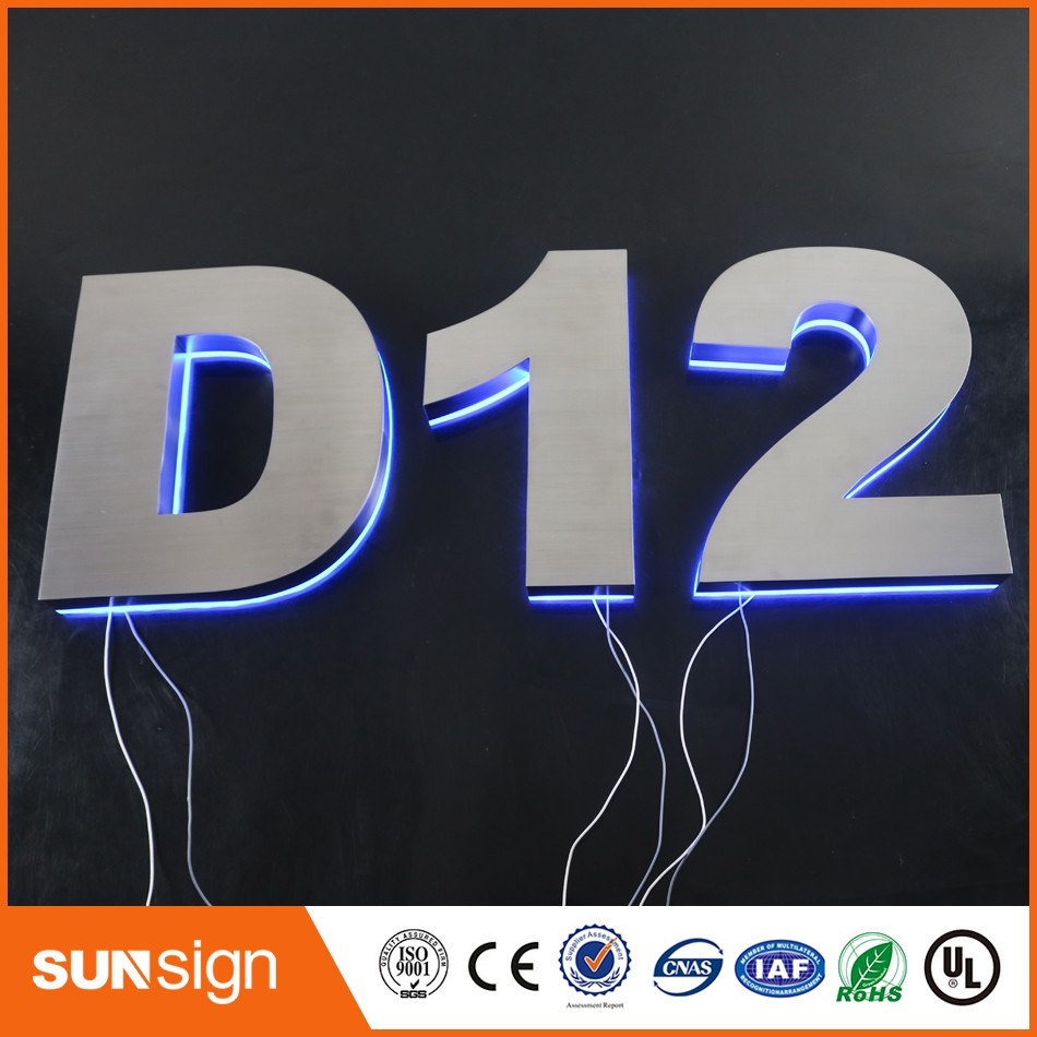 Aliexpress Led Signage Custom Outdoor Stainless Steel Halo Lit LED Sign Letters