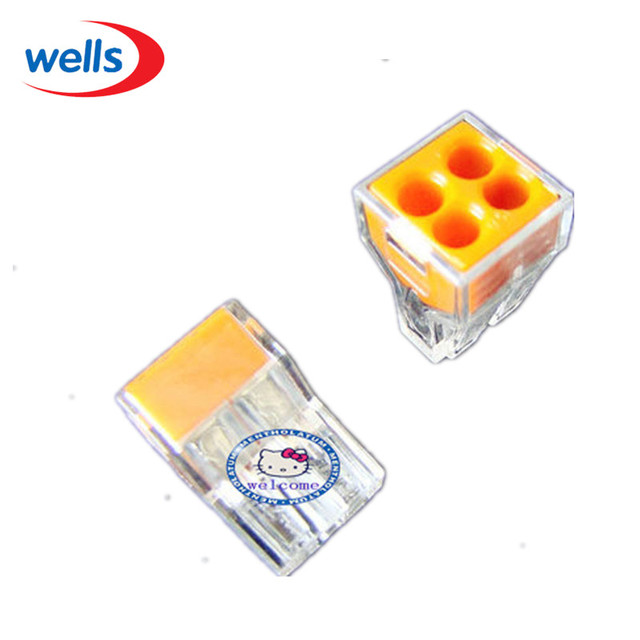 led wholesale 10 pcs wago push wire wiring connector for junction rh aliexpress com Electrical Junction Box Installation Multiple Wires in Junction Box