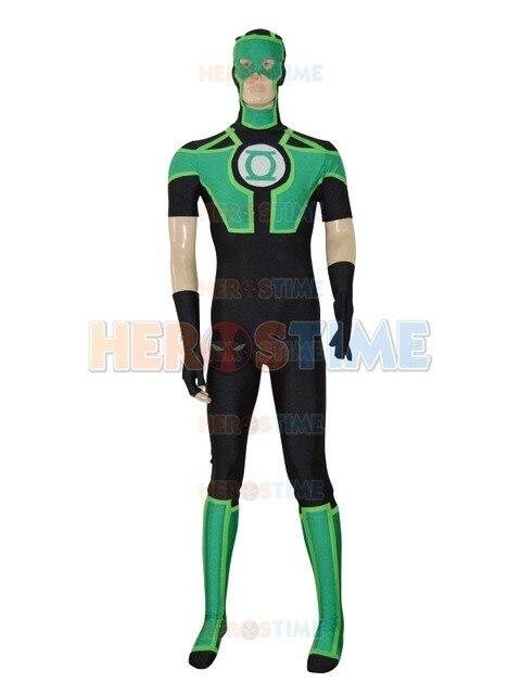 Traje Lanterna verde 2017 Novo Estilo Lanterna Verde Mangas Curtas Superhero Zentai Catsuit Traje Masculino