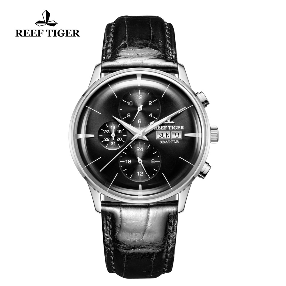 New Reef Tiger/RT Top Brand Luxury Casual Watch Men Steel Waterproof Multi Function Automatic Male Watches Montre Homme RGA1699 все цены