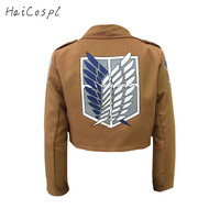 Attack On Titan Cosplay Costume Shingeki No Kyojin Cosplay Jacket Japanese Anime Brown Coat Hallowenn Clothing