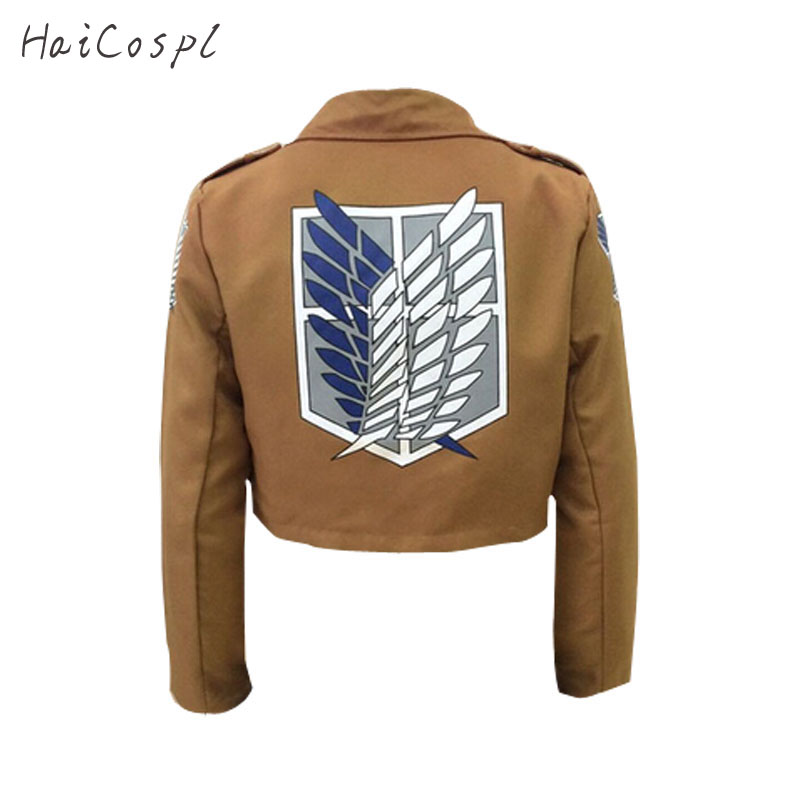 Attack On Titan Cosplay Shingeki No Kyojin Cosplay Jacket Japanese Anime Brown Coat Women Man Adults