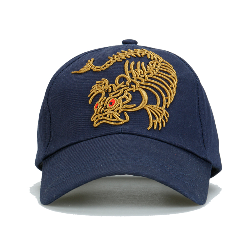 3D Three dimensional embroidered fish bones dragon fishing hat baseball cap  cotton twill cloth-in Fishing Caps from Sports   Entertainment on  Aliexpress.com ... 968ecab2018d
