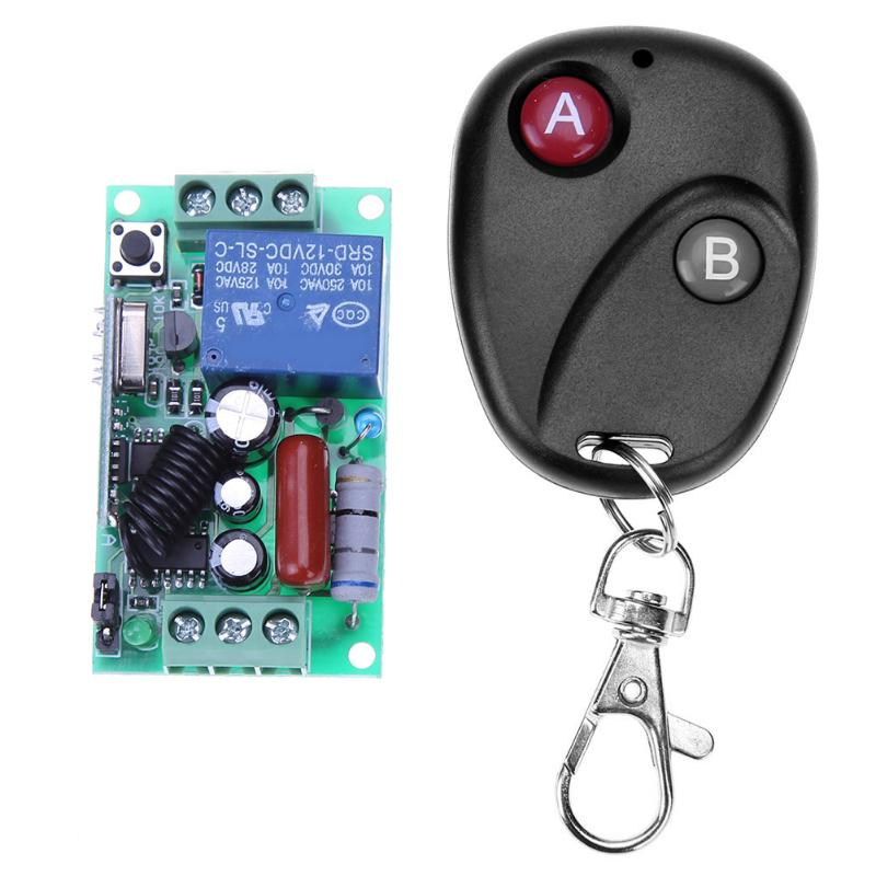 ALLOYSEED Wireless Remote Control Switch Receiver Transmitter 220V 1CH RF Wireless Remote Switch Light Lamp LED SMD for Home Use top quality 16ch wireless remote control switch rf 3pcs transmitter 1pcs receiver dc24v 7a remote control switch for water pump