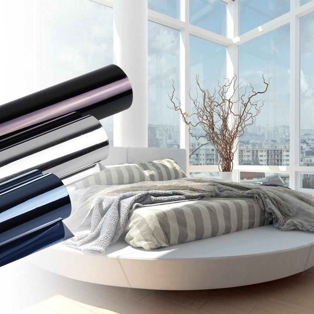 100ft Серебряная зеркальная изоляционная оконная пленка Солнечный Оттенок наклейка защита от ультрафиолета одностороннее украшение конфиденциальности для стеклянного окна 1,52x30 м
