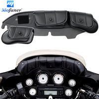 Black 3 Pockets Motorbike Fairing Windshield Bag For Harley Electra Street Glide Touring Bike 1996 2013 Motorcycle