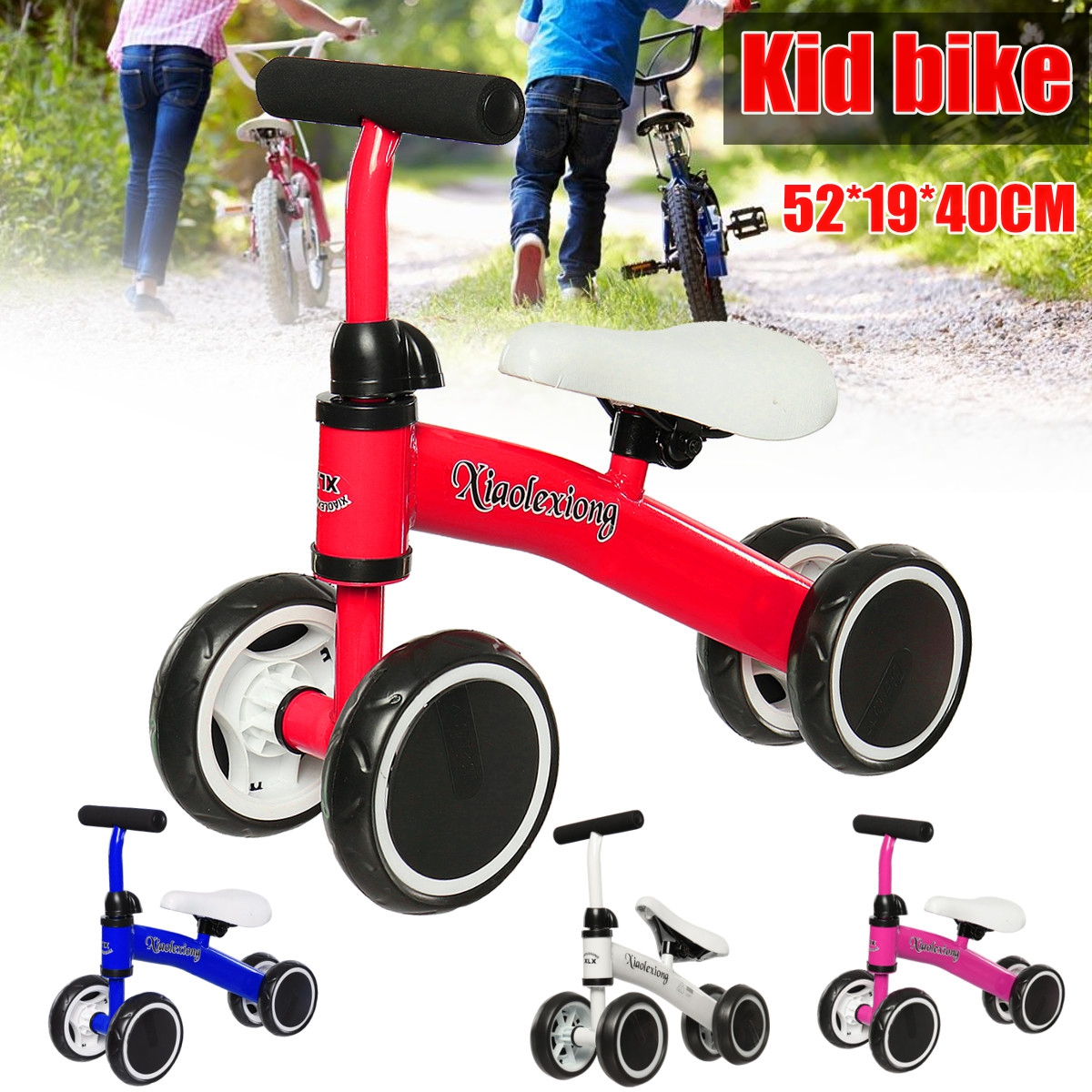 Reversible Kids Toddlers Balance Bike Bicycle Iron Children Bikes Little Zoomer Toy Gift For Baby Children 12 14 16 kids bike children bicycle for 2 8 years boy grils ride kids bicycle with pedal toys children bike colorful adult
