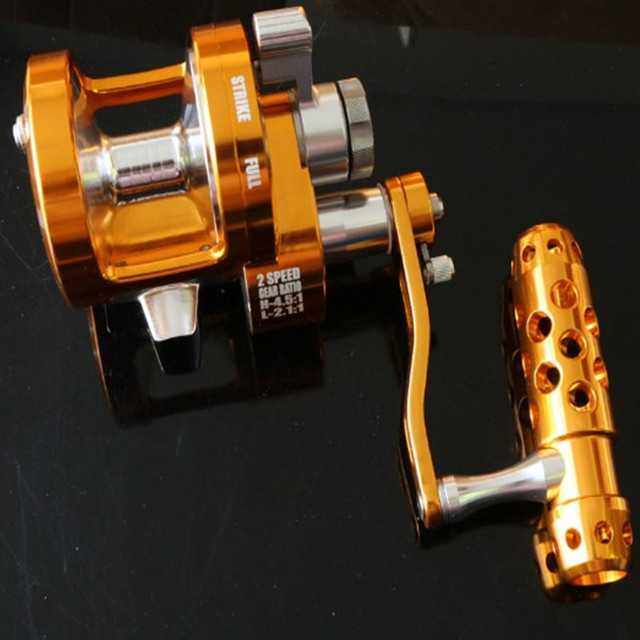 Saltwater Trolling wheel Aluminum CNC Machined Series Fishing Reel Left-Hand 7BB+1RB fishing force 30kg 3