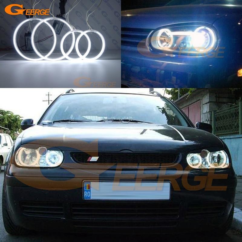 Для Volkswagen VW Гольф МК4 Р32 GTI и VR6 объемом 1998-2004 отлично Ультра-яркий освещения CCFL Ангел глаза комплект гало кольцо
