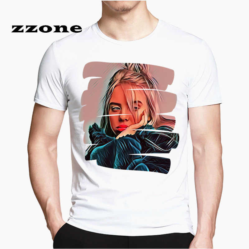 ビリー Eilish ファッション Tシャツ O ネック半袖夏 2019 ユニセックスオーバーサイズ女性 Tシャツ原宿男性ストリート SwagHCP4545
