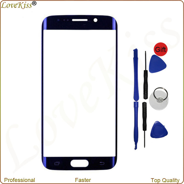 Front Outer Glass For Samsung Galaxy S6 edge G925 SM-G925V SM-G925 High Quality Touch Panel Glass Outer Lens Replacement Tools