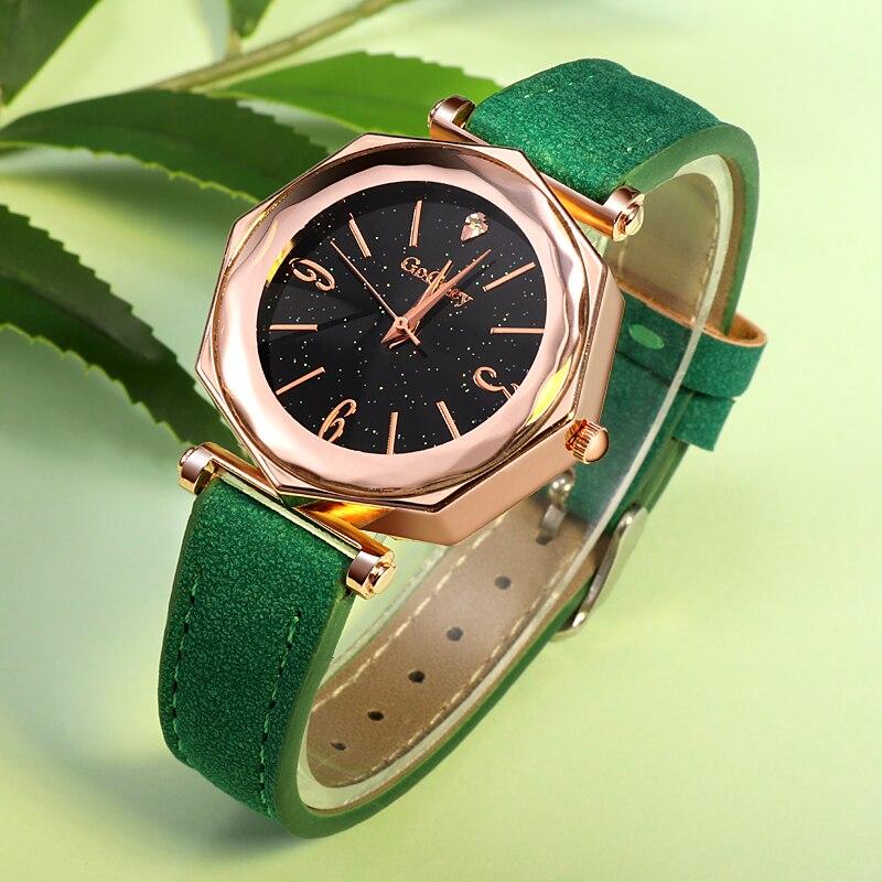 52b6e4e1eac 2018 New Fashion Brand Gogoey Ultra Thin Leather Watch Women Unique Designer  Ladies Watches Reloj De