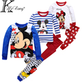 cartoon minnie toddler girl clothes boy mickey clothing set 100% cotton ropa mujer vetement fille roupas infantis menino&menina