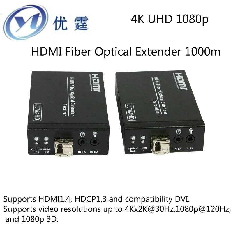 YOUTING YT-HDF01 HDMI Fiber Optical Extender signal over 3300feet/1000meters HDMI Extender 4K@30Hz 1080p@120Hz and 1080p 3D