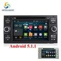 Android núcleo 5.1 Quad 1024*600 2DIN Car DVD GPS Radio stereo para ford mondeo-s max foco c-max galaxy fiesta forma fusão conectar